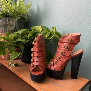 Brown heels from lolashoetique size 7